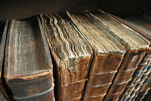 Old book bindings -by Tom Murphy VII at Wikimedia Commons- (GNU)