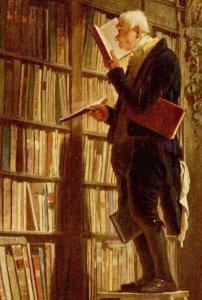 El bibliomano de Carl Spitzweg, ca. 1850 (Wikimedia Commons)